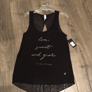 Glyder for Cyclebar Love Sweat & Gears Tank NWT S